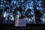 4-21-01.In North Port, Florida local residents send a message to the county firefighters that worked to save quite a few homes during the drought wildfire season.