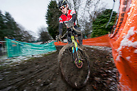 Picture by Allan McKenzie/SWpix.com - 10/12/17 - Cycling - HSBC UK National Cyclo-Cross Championships - Round 5, Peel Park - Bradford, England - Alex Foley.