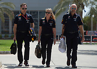 Christian HORNER (GBR) (ASTON MARTIN RED BULL RACING) Team principal (L) and Adrian Newey  (GBR) (ASTON MARTIN RED BULL RACING) Chief Technical Officer during the Bahrain Grand Prix at Bahrain International Circuit, Sakhir,  on 31 March 2019. Photo by Vince  Mignott.