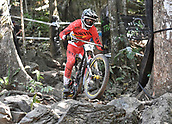 7th September 2017, Smithfield Forest, Cairns, Australia; UCI Mountain Bike World Championships; Mark Wallace (CAN) from team Canyon Factory Racing DH during downhill practice