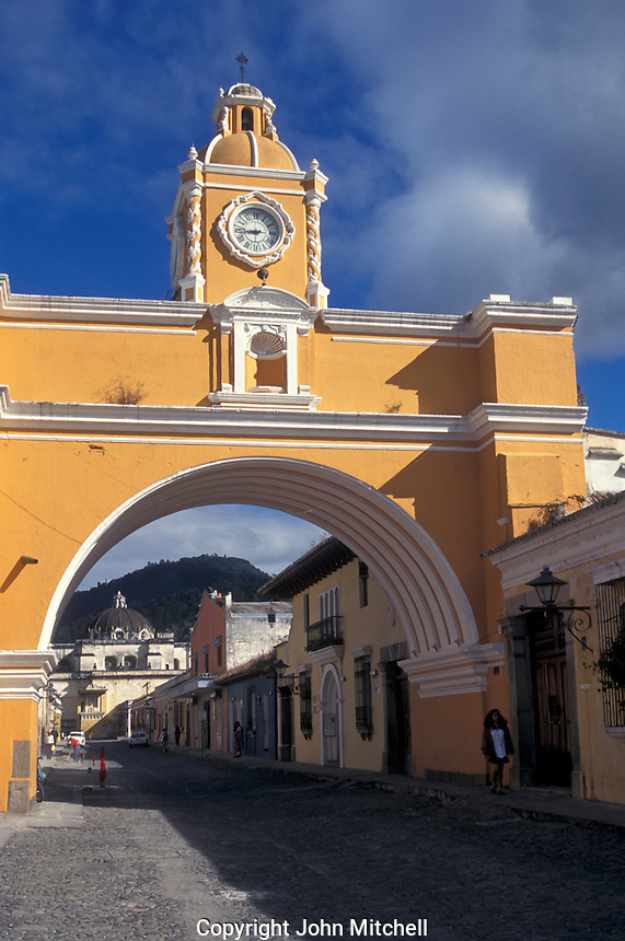 The Santa Catalina arch in the Spanish colonial city of Antigua, Guatemala