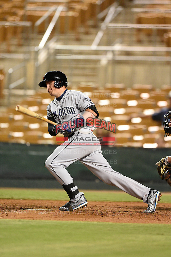 Surprise Saguaros outfielder Hunter Renfroe (25) during an Arizona Fall League game against the Glendale Desert Dogs on October 9, 2014 at Camelback Ranch in Phoenix, Arizona.  Surprise defeated Glendale 7-4.  (Mike Janes/Four Seam Images)