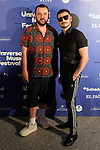 Spanish film director Felix Sabroso (l) and the actor Omar Ayuso during the photocall of Jamie Cullum's concert in the Universal Music Festival 2019. July 22, 2019. (ALTERPHOTOS/Acero)