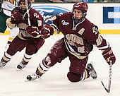 Dan Bertram (BC - 22) - The Boston College Eagles defeated the University of Vermont Catamounts 4-0 in the Hockey East championship game on Saturday, March 22, 2008, at TD BankNorth Garden in Boston, Massachusetts.