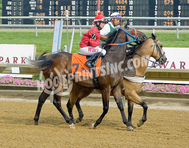 Private Tutor before The Par Four Stakes at Delaware Park on 7/12/12