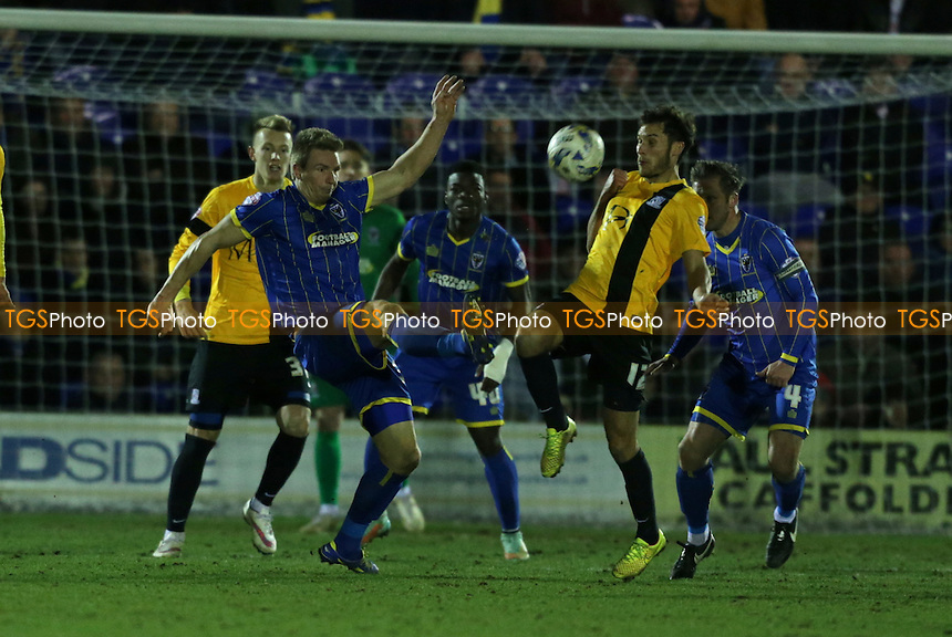 David Winfield of AFC Wimbledon clears the ball - AFC Wimbledon vs Southend United - Sky Bet League Two Football at Kingsmeadow, Kingston upon Thames - 03/03/15 - MANDATORY CREDIT: Simon Roe/TGSPHOTO - Self billing applies where appropriate - contact@tgsphoto.co.uk - NO UNPAID USE