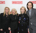 Judith Kasen, Edie Windsor, Daryl Roth and Jordan Roth attends the Broadway Opening Night Performance of  'Indecent' at The Cort Theatre on April 18, 2017 in New York City.