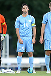 21 September 2012: UNC's Jordan Gafa. The University of North Carolina Tar Heels defeated the University of Virginia Cavaliers 1-0 at Fetzer Field in Chapel Hill, North Carolina in a 2012 NCAA Division I Men's Soccer game.