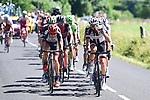 The breakaway group during Stage 15 of the 104th edition of the Tour de France 2017, running 189.5km from Laissac-Severac l'Eglise to Le Puy-en-Velay, France. 16th July 2017.<br /> Picture: ASO/Pauline Ballet | Cyclefile<br /> <br /> <br /> All photos usage must carry mandatory copyright credit (&copy; Cyclefile | ASO/Pauline Ballet)