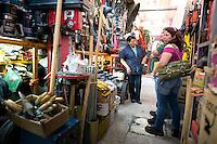 Ma Antonieta Buemros. Hardware store owners in Mercado Hidalgo,  Mexico DF, Mexico