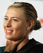 26th April 2017, Stuttgart, Germany; MARIA SHARAPOVA (RUS),  Porsche Tennis Grand Prix 2017 press conference for her first tournament back after suspension