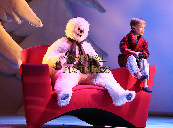 LONDON, ENGLAND - The Snowman - a new production at the Peacock Theatre, London - with The Snowman played by Martin Fenton and The Boy played by Oscar Couchman on November 25th 2015<br /> CAP/ROS<br /> &copy;ROS/Capital Pictures