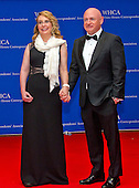 Former United States Representative Gabrielle Giffords (Democrat of Arizona), left, and retired NASA astronaut Mark Kelly arrive for the 2016 White House Correspondents Association Annual Dinner at the Washington Hilton Hotel on Saturday, April 30, 2016.<br /> Credit: Ron Sachs / CNP<br /> (RESTRICTION: NO New York or New Jersey Newspapers or newspapers within a 75 mile radius of New York City)