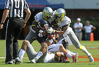 Oregon defeated Virginia 59-10 Saturday at Scott Stadium in Charlottesville, VA. Photo/Andrew Shurtleff
