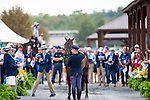 Simone Sordi and Amacuzzi. ITA. Eventing. Team and individual Horse Inspection before dressage. Day 2. World Equestrian Games. WEG 2018 Tryon. North Carolina. USA. 12/09/2018. ~ MANDATORY Credit Elli Birch/Sportinpictures - NO UNAUTHORISED USE - 07837 394578