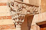 Verona Cathedral, Duomo Cattedrale di Santa Maria Matricolare, detail of the column capitals outside