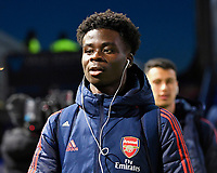 Bukayo Saka of Arsenal during Portsmouth vs Arsenal, Emirates FA Cup Football at Fratton Park on 2nd March 2020