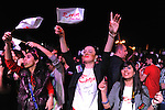 Fans of Emin Agalarov, the son-in-law of Azerbaijan's President Ilham Aliyev and the nation's top male pop star, are seen in the front row during a performance on the Caspian seaside Bulvar at the Eurovsion Song Contest Fan Club concert on April 29, 2012.  Agalarov is married to Leyla Aliyeva, the eldest daughter of Azerbaijani President Ilham Aliyev who holds many hats in her own right, among them head of the Heydar Aliyev Foundation in Russia, editor of Baku Magazine, artist, and poet and Agalarov's father, Aras Agalarov, is a Russian billionaire oligarch of Azerbaijani origin in the retail and real estate development sectors, being the first to bring foreign luxury fashion brands to Russia after the collapse of communism and opening several gaudy malls and arenas in Moscow and elsewhere in Russia.