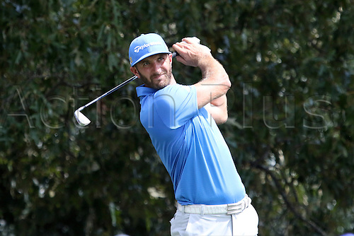 23.09.2016. Atlanta, Georgia, USA.    Dustin Johnson during the second round of the 2016 PGA Tour Championship at East Lake Golf Club in Atlanta, Georgia.