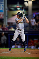 Trenton Thunder Kyle Holder (6) bats during an Eastern League game against the Reading Fightin Phils on August 16, 2019 at FirstEnergy Stadium in Reading, Pennsylvania.  Trenton defeated Reading 7-5.  (Mike Janes/Four Seam Images)