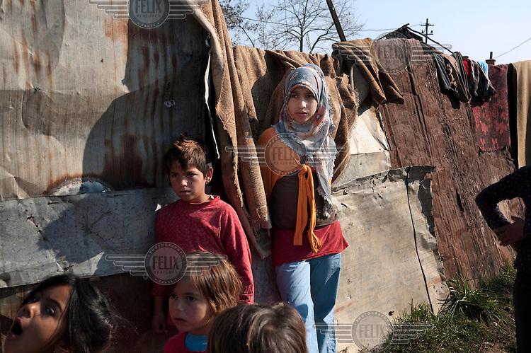 Children in the Dubrava village.