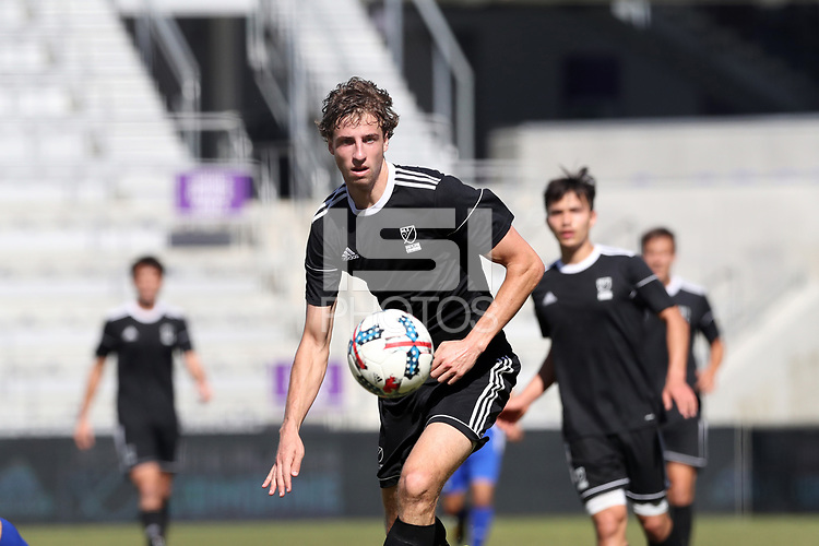 Orlando, Florida - Wednesday January 17, 2018: Wyatt Omsberg. Match Day 3 of the 2018 adidas MLS Player Combine was held Orlando City Stadium.
