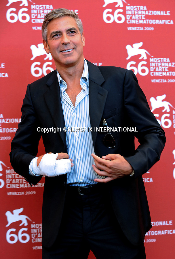 """GEORGE CLOONEY.""""The Men Who Stare at Goats"""" photocall at the  66th Venice Film Festival , Venice_08/09/2009.Mandatory Credit Photo: ©NEWSPIX INTERNATIONAL..**ALL FEES PAYABLE TO: """"NEWSPIX INTERNATIONAL""""**..IMMEDIATE CONFIRMATION OF USAGE REQUIRED:.Newspix International, 31 Chinnery Hill, Bishop's Stortford, ENGLAND CM23 3PS.Tel:+441279 324672  ; Fax: +441279656877.Mobile:  07775681153.e-mail: info@newspixinternational.co.uk"""