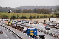 Construction of a new bridge over Junction 15 of the M40 motorway..©shoutpictures.com..john@shoutpictures.com