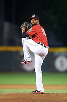 Erie SeaWolves relief pitcher Lendy Castillo (19) during a game against the Richmond Flying Squirrels on May 27, 2016 at Jerry Uht Park in Erie, Pennsylvania.  Richmond defeated Erie 7-6.  (Mike Janes/Four Seam Images)