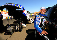 Jul. 17, 2010; Sonoma, CA, USA; NHRA funny car driver Robert Hight during qualifying for the Fram Autolite Nationals at Infineon Raceway. Mandatory Credit: Mark J. Rebilas-