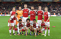 Arsenal pre match team photo during the UEFA Europa League match between Arsenal and FC Koln at the Emirates Stadium, London, England on 14 September 2017. Photo by Andrew Aleks.