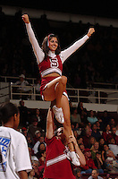 21 January 2006: Cheerleaders during Stanford's 84-78 win against Arizona State Sun Devils at Maples Pavilion in Stanford, CA.
