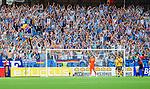 Stockholm 2014-07-07 Fotboll Allsvenskan Djurg&aring;rdens IF - IF Elfsborg :  <br /> Djurg&aring;rdens supportrar under matchen<br /> (Foto: Kenta J&ouml;nsson) Nyckelord:  Djurg&aring;rden DIF Tele2 Arena Elfsborg IFE supporter fans publik supporters
