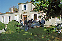 The small chateau. Chateau Plaisance, Premieres Cotes de Bordeaux, France