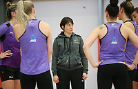 07.10.2017 Silver Ferns coach Janine Southby during the Silver Ferns training in Christchurch. Mandatory Photo Credit ©Michael Bradley.