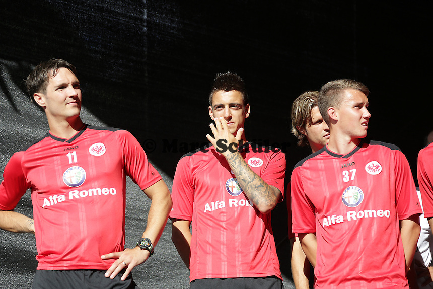 Srdjan Lakic, Joselu, Luca Waldschmitt - Eintracht Frankfurt Saisoneroeffnung