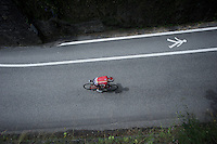 Tony Gallopin (FRA/Lotto-Soudal) speeding through the village of Flumet<br /> <br /> Stage 20: Megève › Morzine (146.5km)<br /> 103rd Tour de France 2016