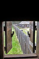 Open window shutter at Fort Ross State historic Park. California