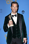 Matthew McConaughey <br />  71st Annual Golden Globe Awards - Press Room  on January 12, 2014 at  the  Beverly Hilton Hotel  Beverly Hills,California,USA. Photo:TLowe