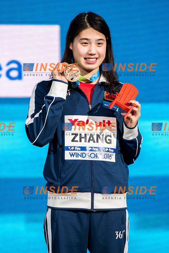 ZHANG Yufei CHN Bronze Medal<br /> Women's 200m Butterfly<br /> 13th Fina World Swimming Championships 25m <br /> Windsor  Dec. 7th, 2016 - Day02 Finals<br /> WFCU Centre - Windsor Ontario Canada CAN <br /> 20161207 WFCU Centre - Windsor Ontario Canada CAN <br /> Photo &copy; Giorgio Scala/Deepbluemedia/Insidefoto