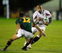 Photo: Richard Lane/Richard Lane Photography. England U20 v South Africa U20. Semi Final. 18/06/2008. England's Jordan Turner-Hall attacks.