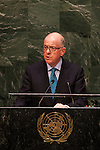 Irish Foreign Minister Addresses United Nations General Assembly
