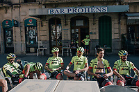 coffee-brake at Team Trek-Segafredo Mallorca training camp <br /> <br /> January 2018