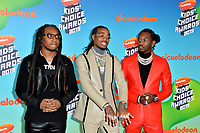 LOS ANGELES, CA. March 23, 2019: Migos, Takeoff, Quavo & Offset at Nickelodeon's Kids' Choice Awards 2019 at USC's Galen Center.<br /> Picture: Paul Smith/Featureflash