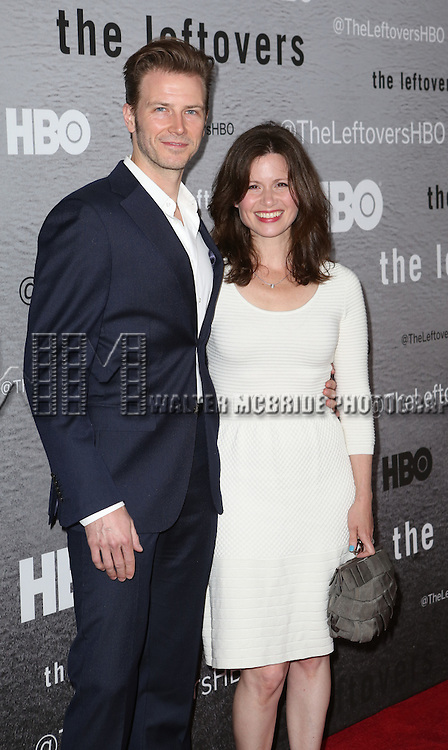 Bill Heck and Maggie Lacey attends the HBO series premiere of 'The Leftovers' at NYU Skirball Center on June 23, 2014 in New York City.