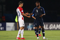 Moussa Dembele of France celebrates at the end of the match<br /> Serravalle 21-06-2019 Stadio San Marino Stadium <br /> Football UEFA Under 21 Championship Italy 2019<br /> Group Stage - Final Tournament Group C<br /> France - Croatia<br /> Photo Cesare Purini / Insidefoto