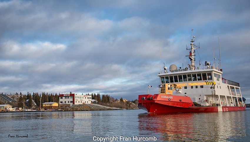 Canadian Coastguard vessel Eckaloo in Yellowknife