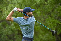 Kyle Stanley (USA) watches his tee shot on 1 during day 3 of the Valero Texas Open, at the TPC San Antonio Oaks Course, San Antonio, Texas, USA. 4/6/2019.<br /> Picture: Golffile | Ken Murray<br /> <br /> <br /> All photo usage must carry mandatory copyright credit (&copy; Golffile | Ken Murray)