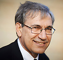 Orhan Pamuk Nobel Prize winning Turkish author and  writer at Oxford Literary Festival  at Sheldonian Theatre Oxford  2014 CREDIT Geraint Lewis
