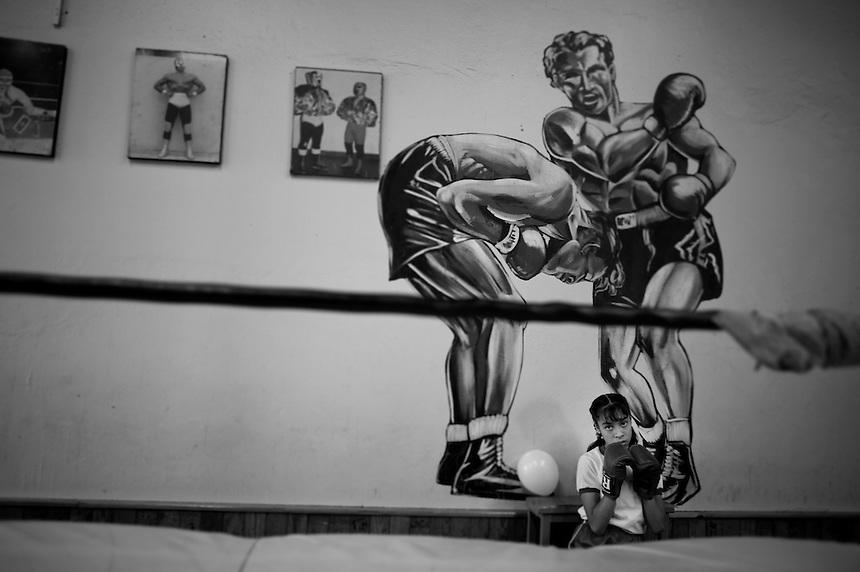 Briceida Santiago portraits of APAC patients in the famous Nueva Jordan Boxing Gym, Mexico City, Mexico
